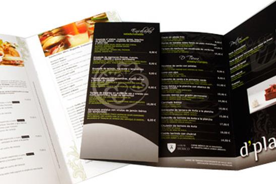 Cartas de restaurante en Granada-Almería-Jaén
