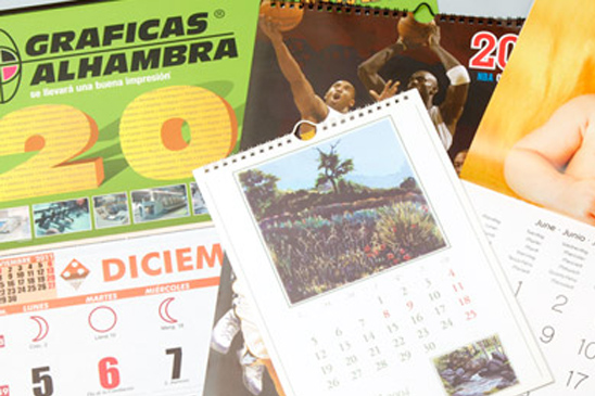 Calendarios - Almanaques en Granada-Almería-Jaén